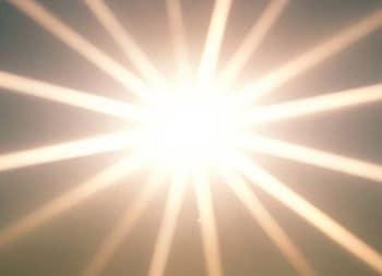 effett sull'occhio della luce del sole